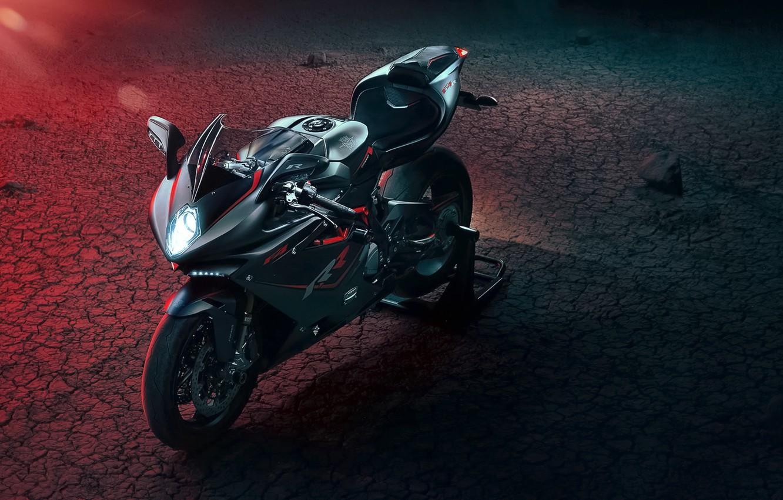 Фото обои Light, Red, Bike, Agusta, Motocycle