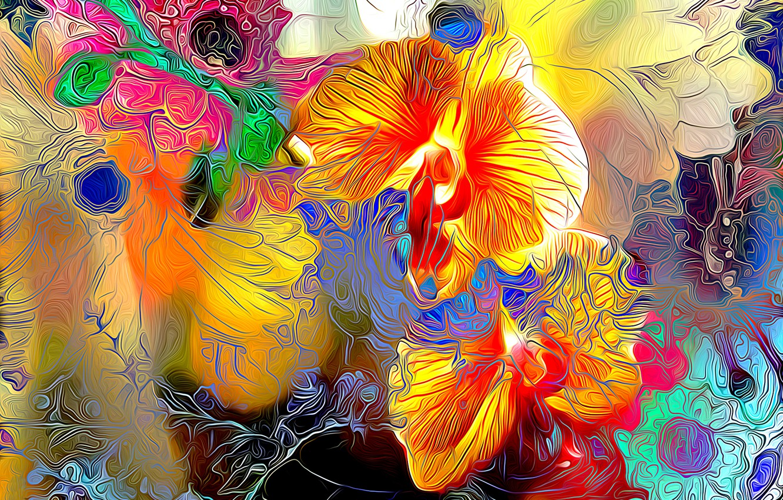 Картинка абстрактные цветы