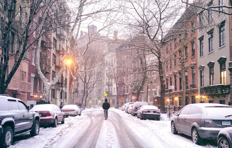 Обои Nyc, manhattan, new york, winter. Города foto 6