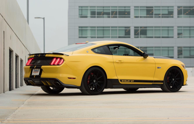 Фото обои car, авто, Mustang, Ford, Shelby, мустанг, шелби, yellow