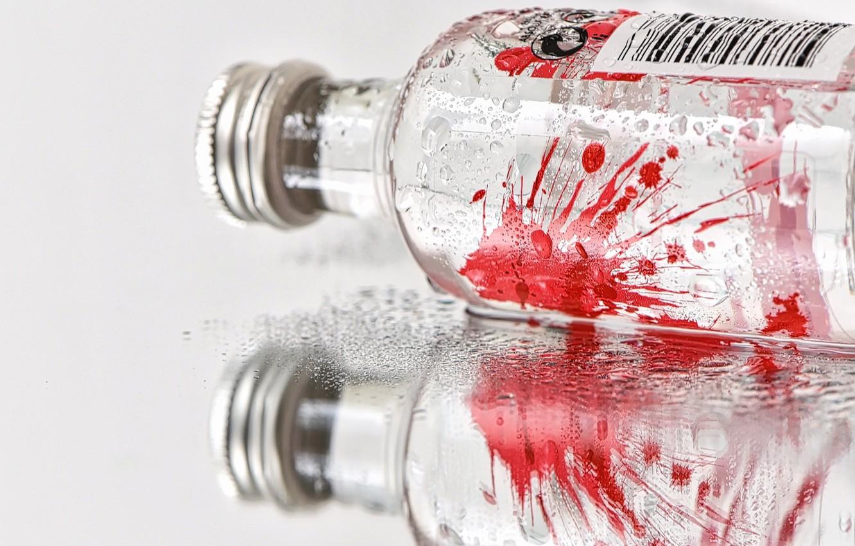 Фото обои фон, краска, бутылка