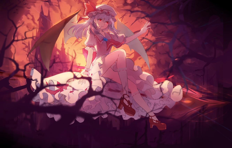 Фото обои девушка, аниме, арт, touhou