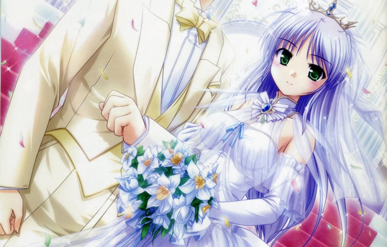 Дня петра, открытки аниме свадебные