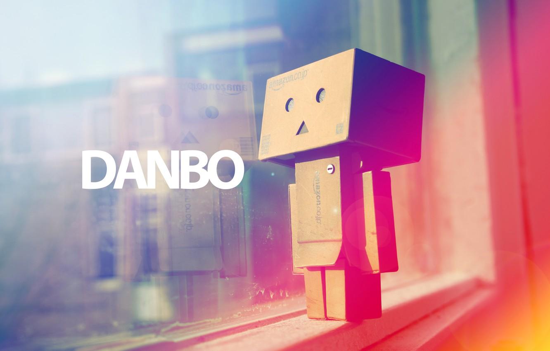 Фото обои свет, градиент, окно, Danbo, Коробок