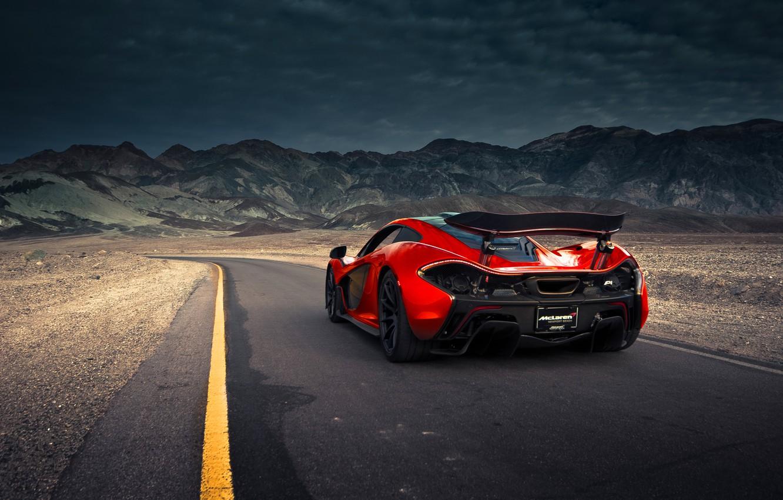 Фото обои McLaren, Orange, Front, Death, Sand, Road, Supercar, Valley, Spoiler, Hypercar, Exotic, Rear, Volcano, Extra, Terrestrial