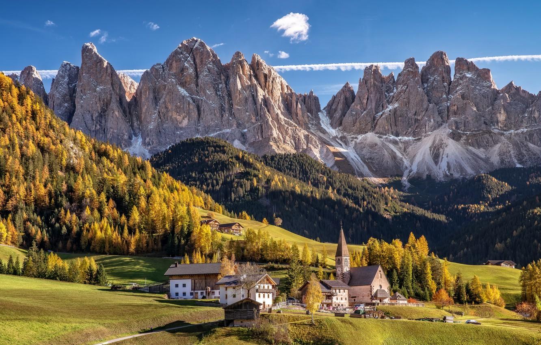 Фото обои природа, Autumn, Dolomite Alps