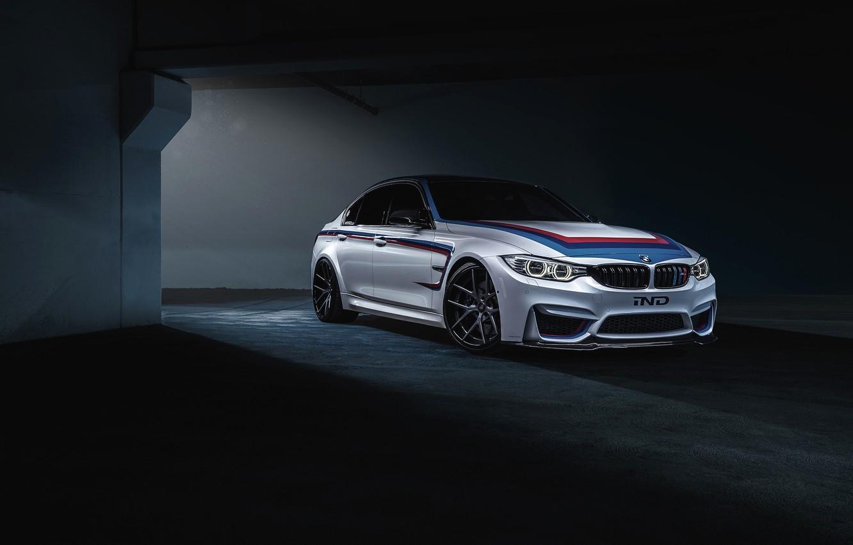 Фото обои BMW, dark, white, IND, F80