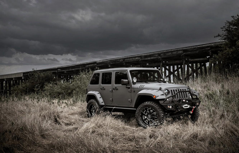 Фото обои джип, jeep, wrangler, вранглер, unlimited, NightHawk