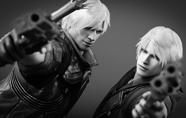 Фото обои пистолет, Dante, Nero, devil may cry, capcom