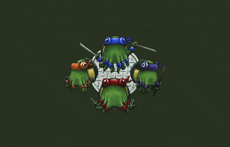 Фото обои Рафаэль, TMNT, Raphael, Leonardo, Donatello, Донателло, Леонардо, Микеланджело, Teenage Mutant Ninja Turtles, Michelangelo, Черепашки ниндзя, …