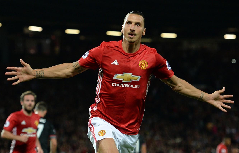 Фото обои футбол, Англия, легенда, футболист, football, игрок, Manchester United, Манчестер Юнайтед, Премьер лига, Златан Ибрагимович, Zlatan …