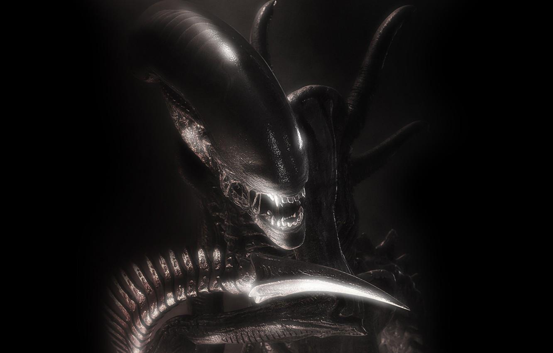 Фото обои чужой, пасть, aliens
