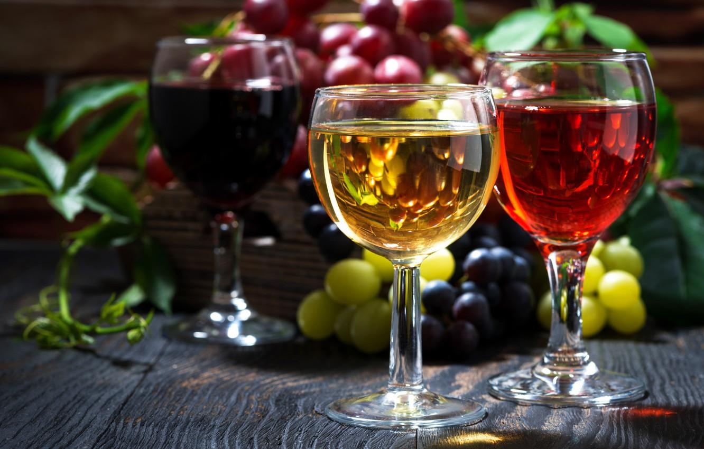 Обои Бутылки, кисть, орех, гроздь, виноград, бокалы, вино. Еда foto 14