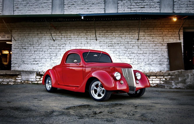 Фото обои машина, фон, ford, hot rod, 1936