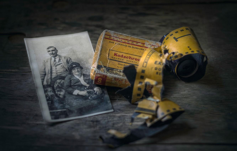 Фото обои старое фото, плёнка, боке