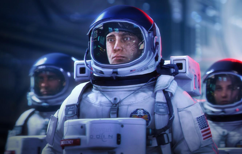 Обои скафандр, шлем, космонавт, astronaut. Игры foto 6
