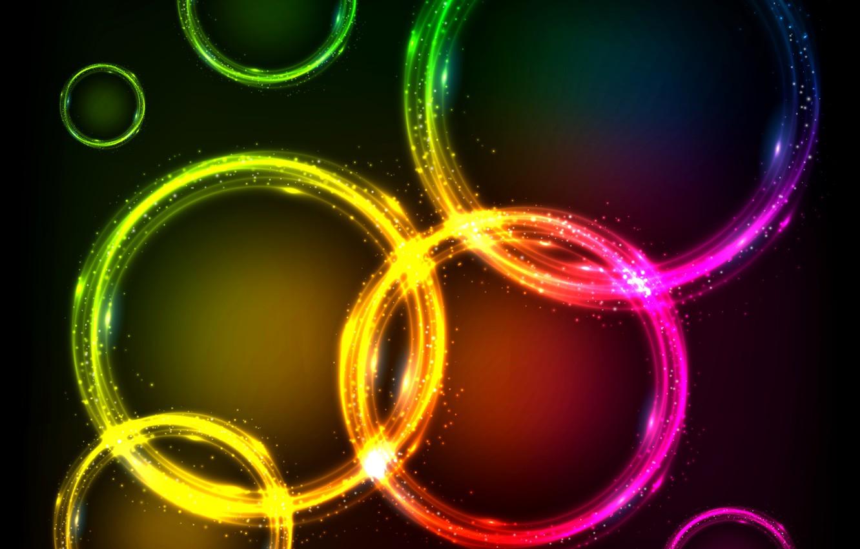 Обои неоновый, Abstract, rainbow, lights, colors, background. Абстракции foto 17