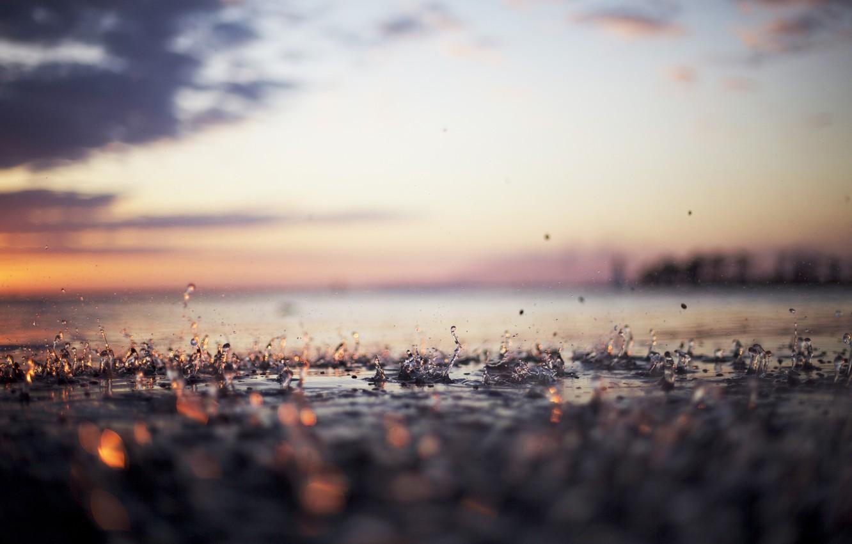 Фото обои вода, капли, дождь, капля