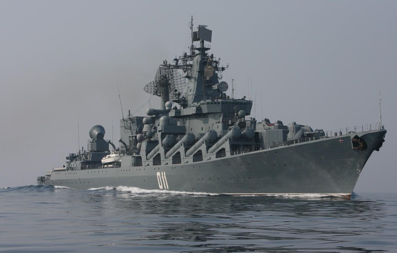 Фото обои море, крейсер, ракетный, «Варяг»