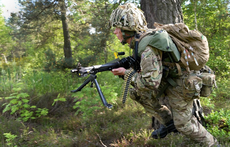 Фото обои оружие, солдат, British Army
