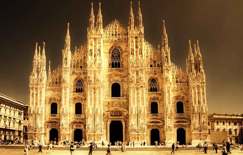 Фото обои Италия, собор, Italy, Milano, Миланский