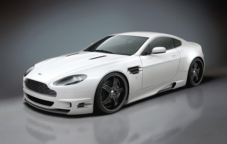 Фото обои белый, отражение, Aston Martin, тюнинг