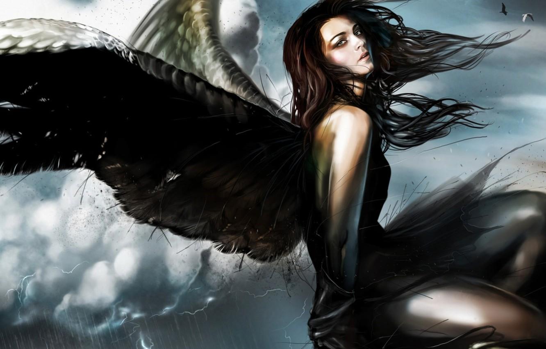 Фото обои девушка, фантастика, крылья, ангел, fantasy