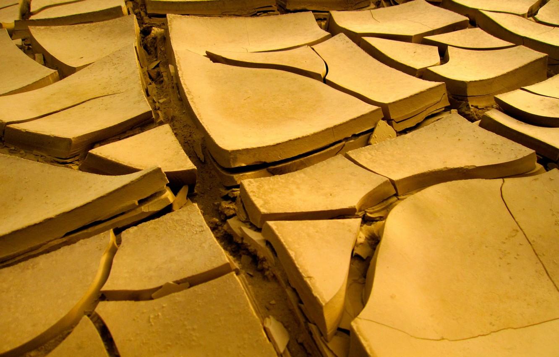 Фото обои трещины, земля, засуха