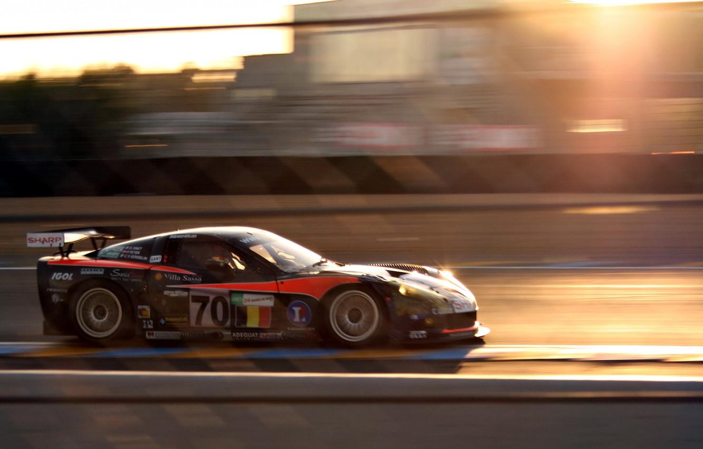 Фото обои скорость, размытость, corvette