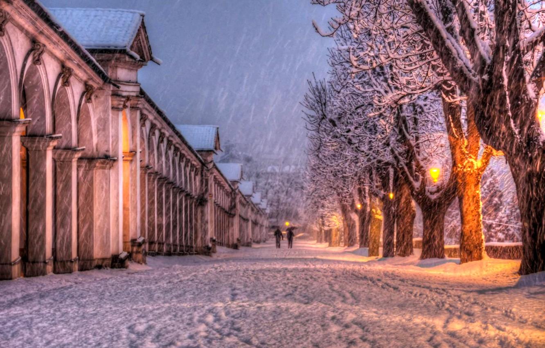 Картинки на рабочий стол зима осень город