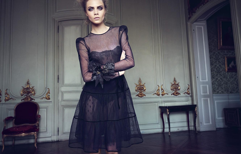 Фото обои взгляд, актриса, фотограф, 2012, журнал, топ-модель, Cara Delevingne, Кара Делевинь, Horst Diekgerdes, Vogue Turkey