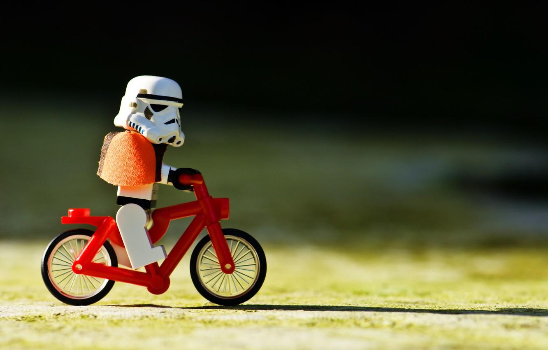 Фото обои Star Wars, Велосипед, Звёздные войны, Lego, Клон
