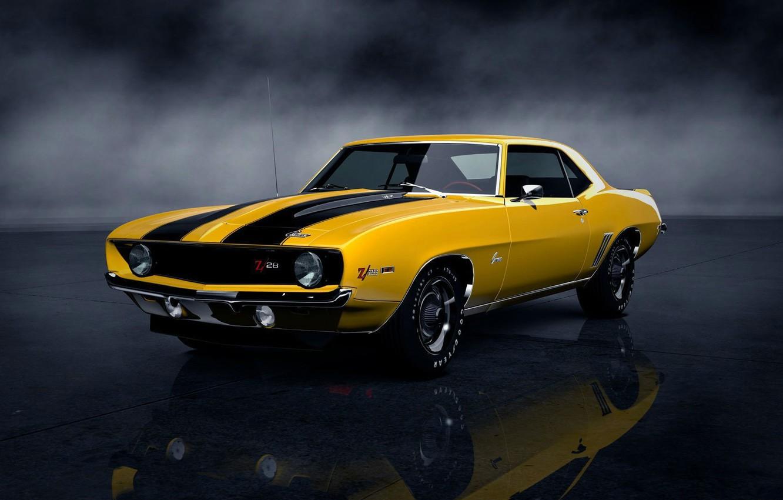 Фото обои машина, Chevrolet, автомобиль, camaro, muscle car