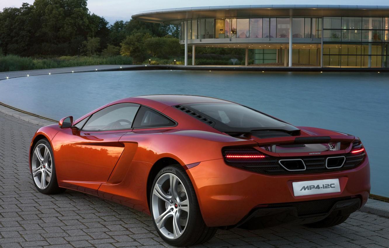 Фото обои McLaren, Вода, Дом, MP4