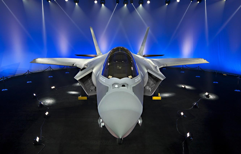 Обои F-35, lightning ii, истребитель, бомбардировщик, суша. Авиация foto 11