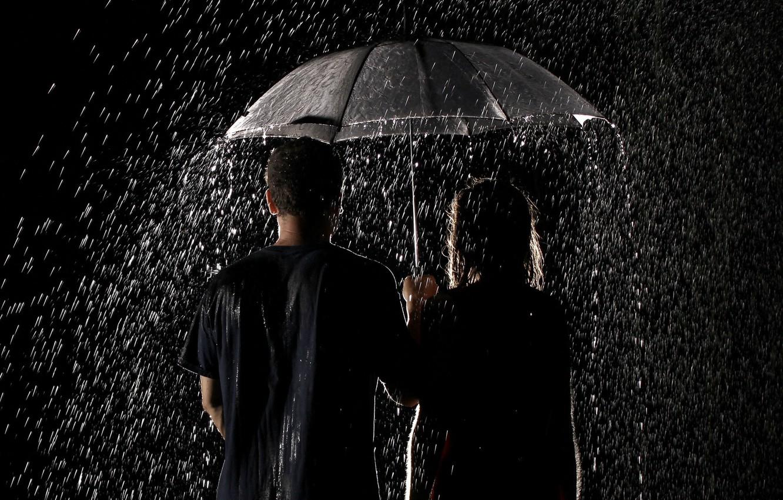 Обои дождь, зонт, капли. Разное foto 6