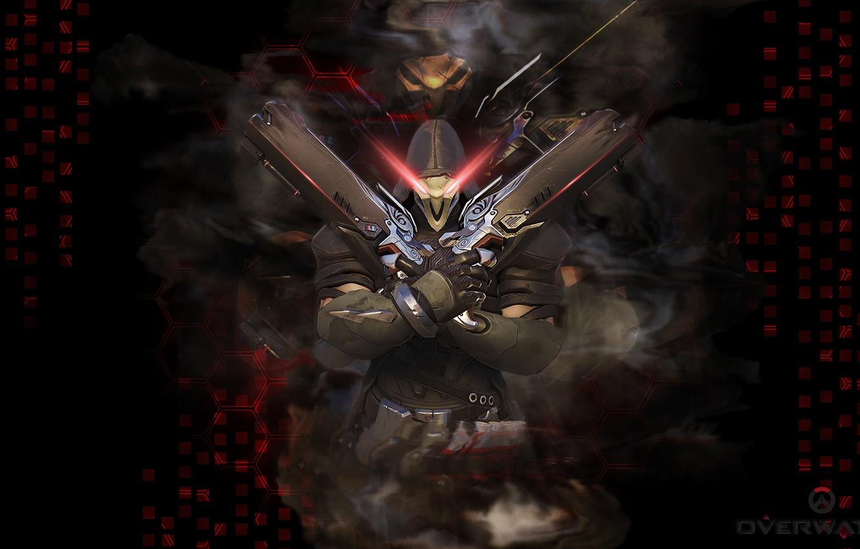 Фото обои Blizzard, Wallpaper, Game, Reaper, Overwatch