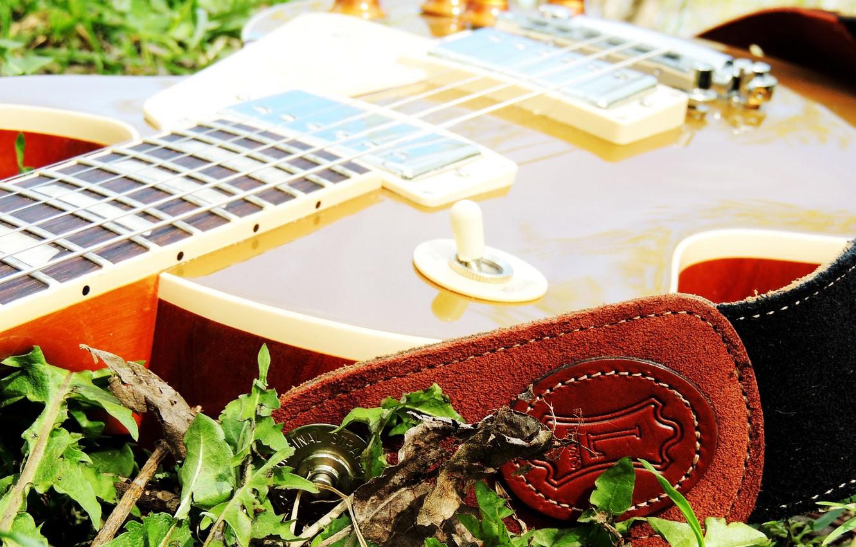 Фото обои Музыка, Гитара, Music, Guitar, Gibson, LesPaul, Goldtop