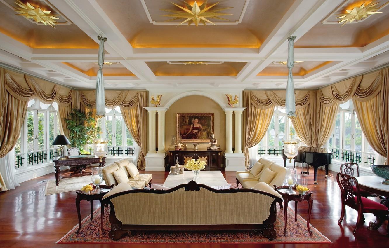 Фото обои дизайн, стиль, вилла, интерьер, гостиная