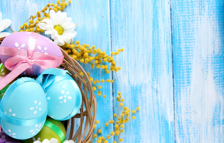 Фото обои цветы, дерево, ромашки, яйца, весна, пасха, пастель, blue, flowers, spring, eggs, easter, delicate, daisy, camomile, …
