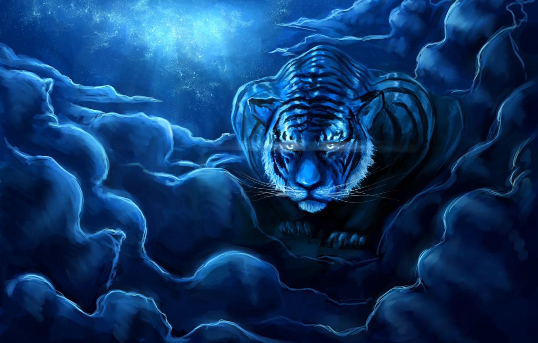 Тигр ночью картинки