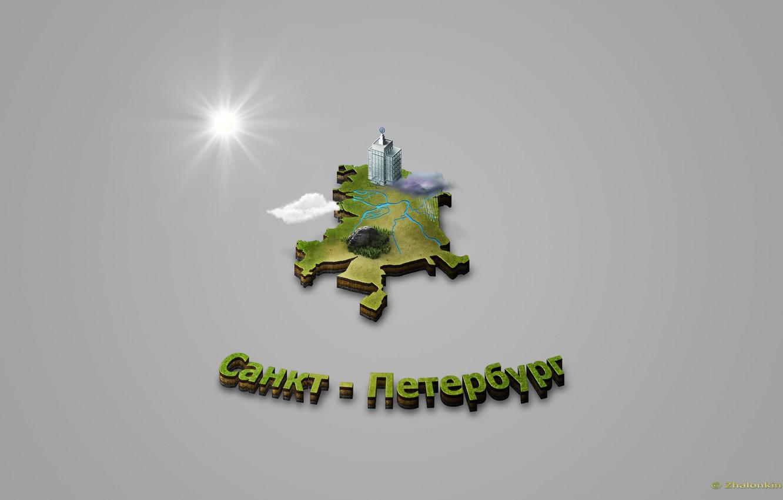 Фото обои город, карта, санкт-петербург, мирок