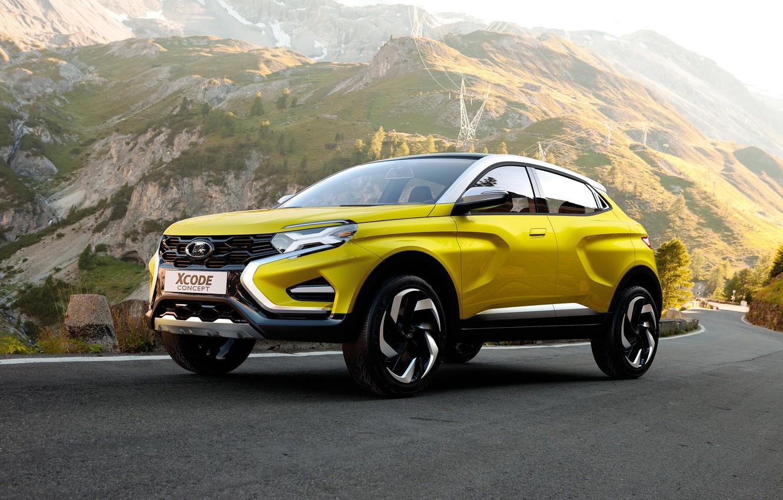 Фото обои Concept, Желтый, Lada, Лада, Автомобили, 2016, XCODE
