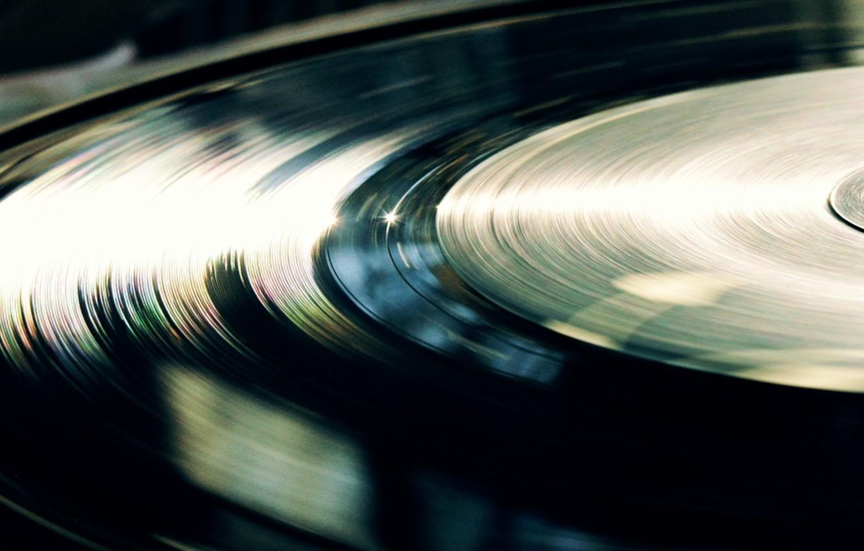 Фото обои свет, линии, винил, пластинка
