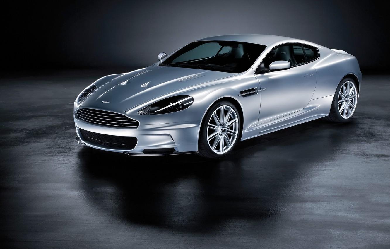 Фото обои Aston Martin, DBS, серебристый