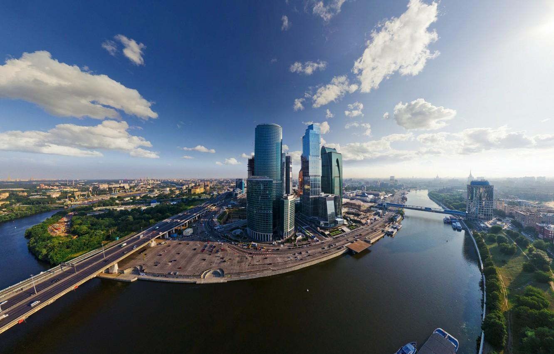 Фото обои река, Москва, Сити