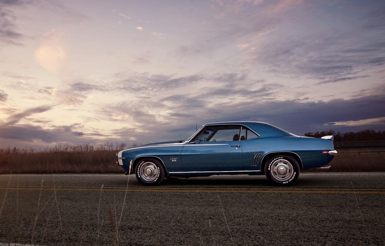 Фото обои дорога, 1969, Camaro