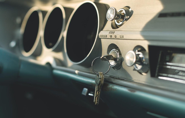 Фото обои машина, ключи, салон