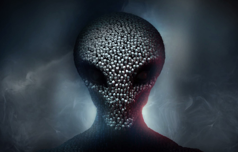 Фото обои дым, инопланетянин, черепа, 2K Games, Firaxis, Xcom 2