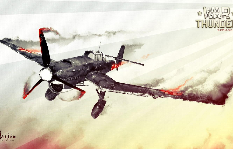 Фото обои Junkers, War Thunder, авиасимулятор, видеоигры